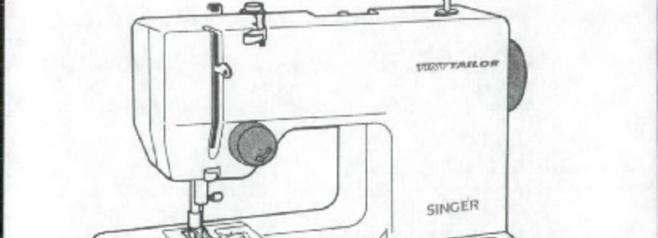 Singer TT-600X-TINY-TAILOR Sewing Machine Instruction