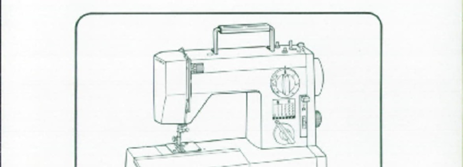 Toyota 6400-6402 Sewing Machine Instruction Manual for