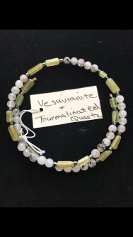 Vesuvianite and tourmalinated quartz