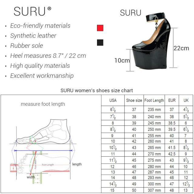 Ankle Strap Lock Details Sexy Killer 22cm87 Inch Ultra