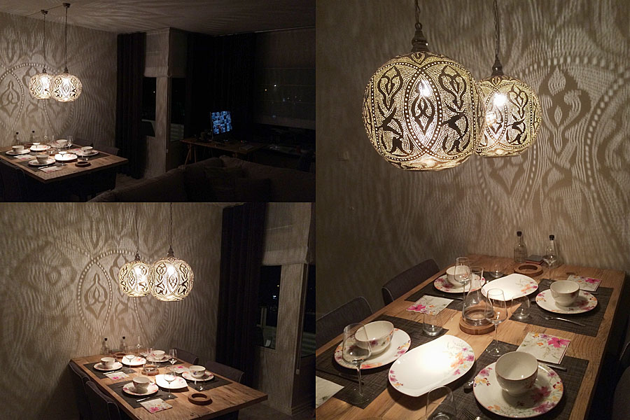 Egyptian dining table lamps