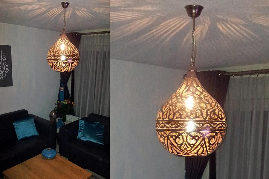 egyptische hanglamp haifa lounge hoek