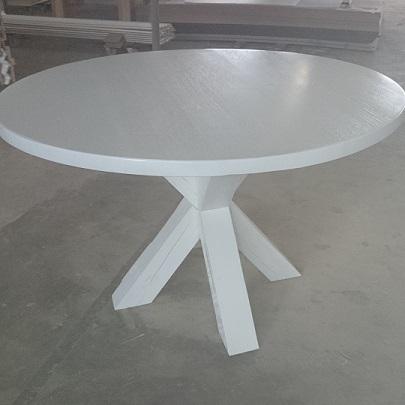 Witte ronde houten tafel  Keukenmeubilair