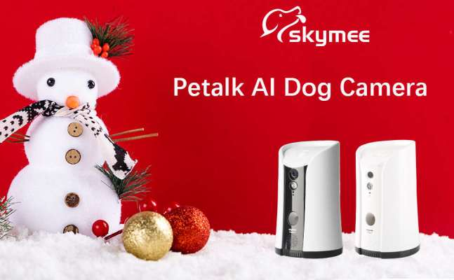SKYMEE Dog Pet Camera Treat Dispenser