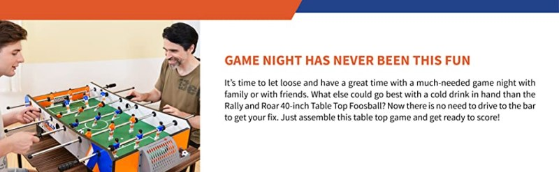 Rally and Roar Foosball Tabletop Games and Accessories
