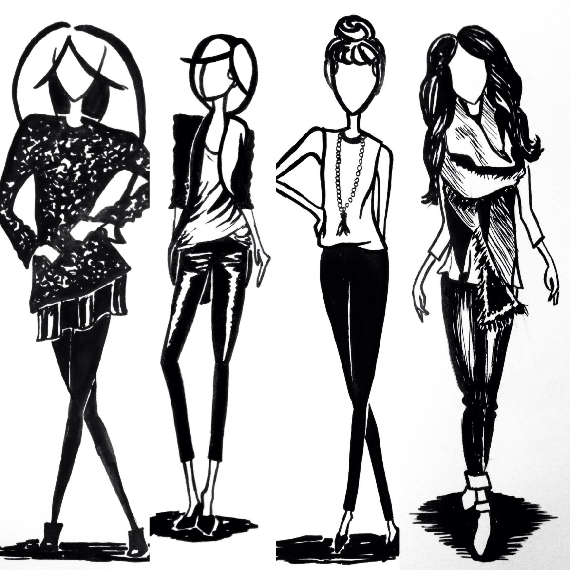 Fashion Drawing by Allison Lawdanski Taylor