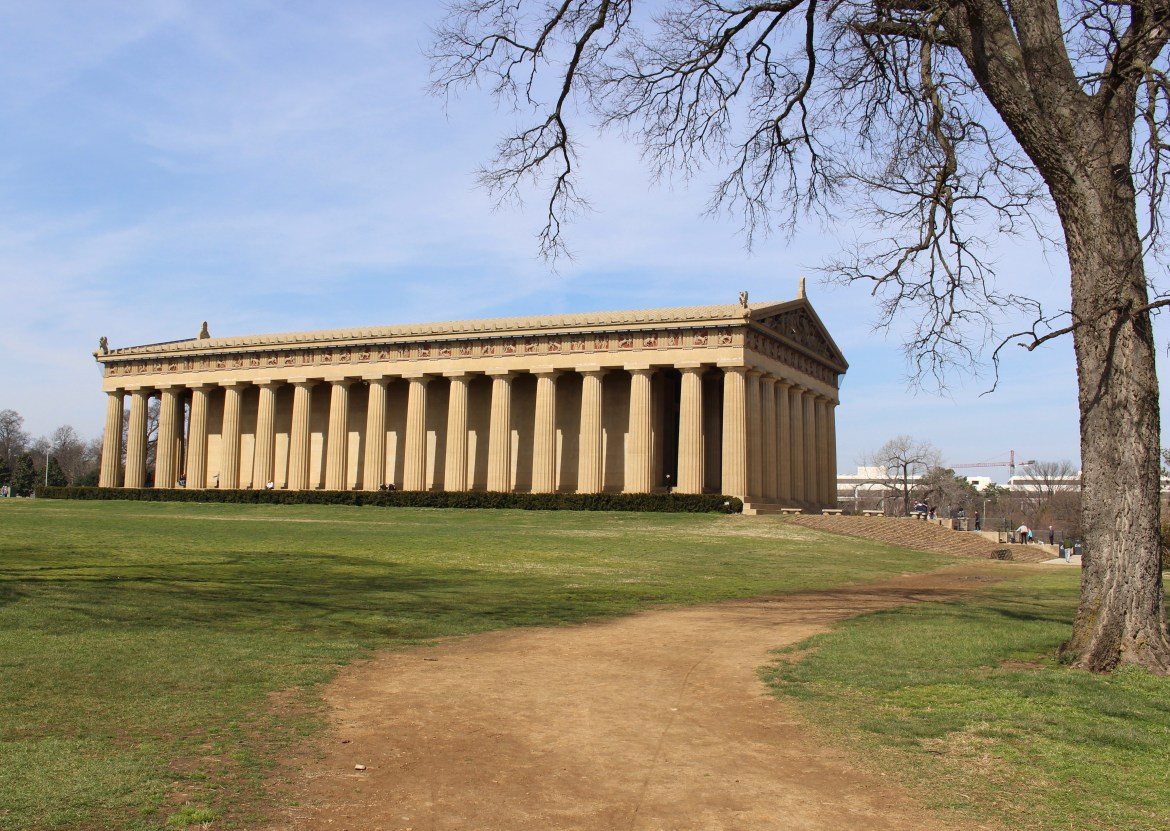 The Parthenon, and exact replica of the one in Athens, is the centerpiece of Centennial Park in Nashville