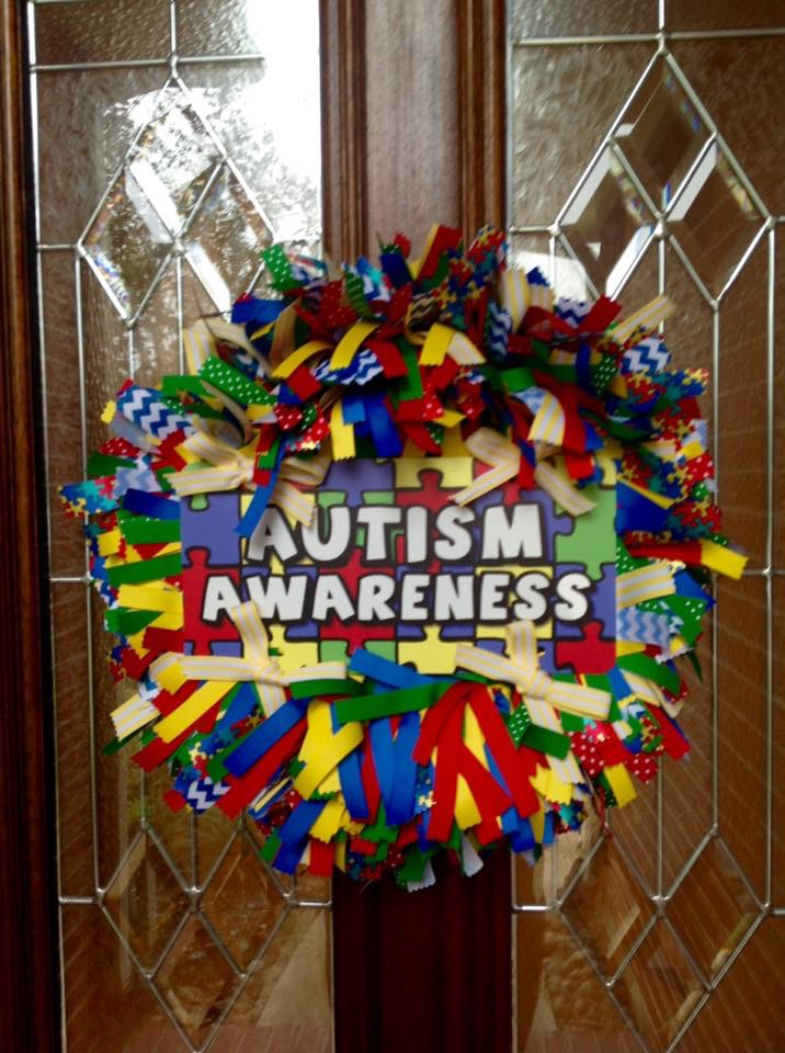 Autism Awareness Wreath from Whimsical Wreaths by Amy