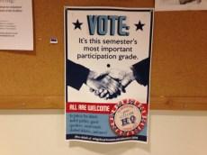 Poster encouraging voter registration