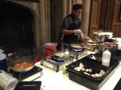 Guest chef cooking custom pasta dishes