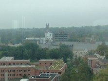 Cleveland Tower of the Graduate School looms in the distance
