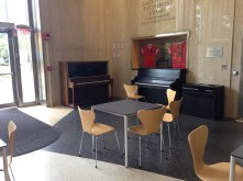 Every common room has at least one piano