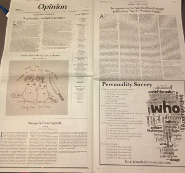 Responses in the newspaper the day after the editorial