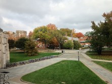 Looking from Whitman towards Wilson and Butler Colleges