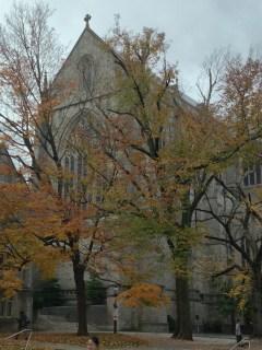 Next to the University Chapel