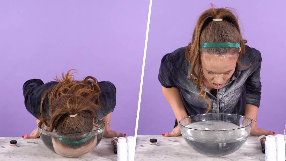 Get your face down in a bowl of water