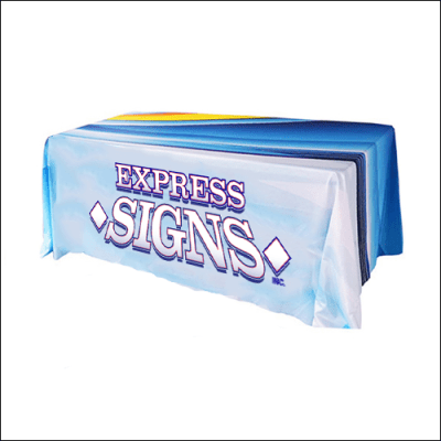 Drape Table Cover with Express Signs Logo