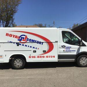 Vehicle Wrap - Royal Comfort