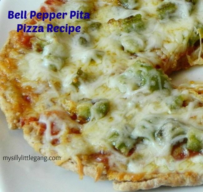 pepper pita pizza