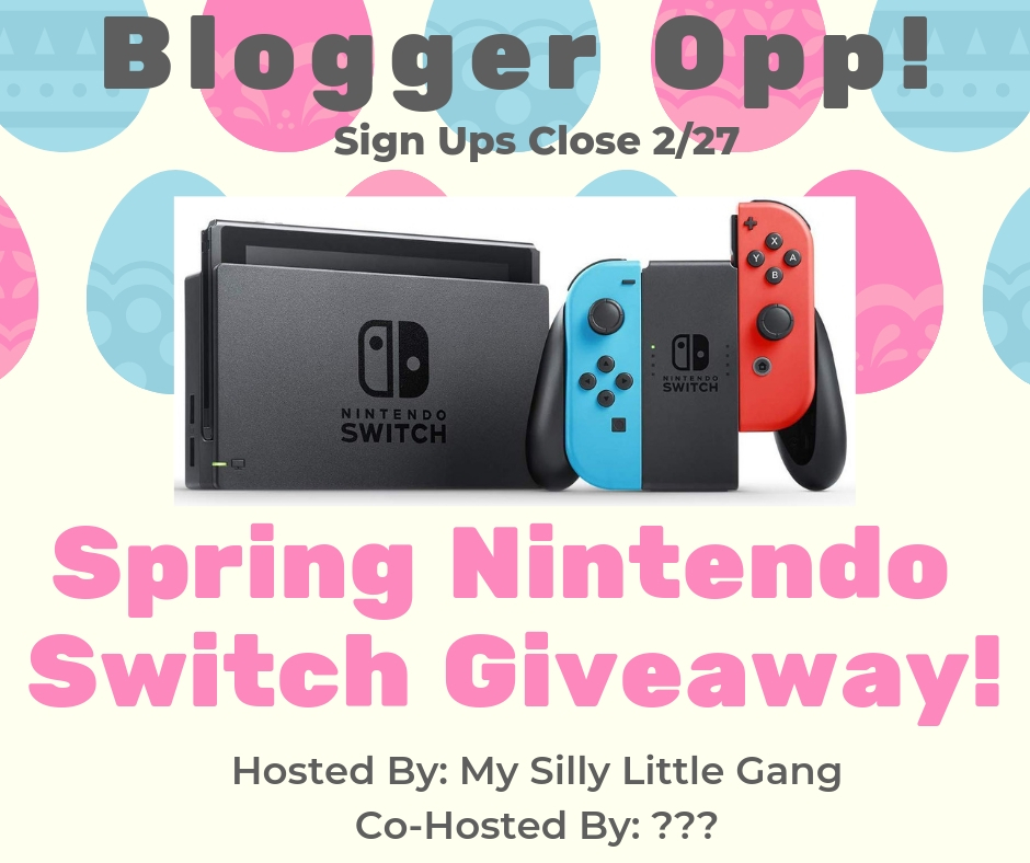 Blogger Opp Spring Nintendo Switch Giveaway