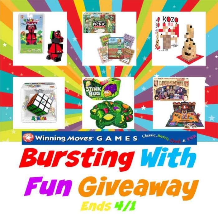 Bursting With Fun Giveaway Ends 4/1 @winningmovesusa @SMGurusNetwork @las930