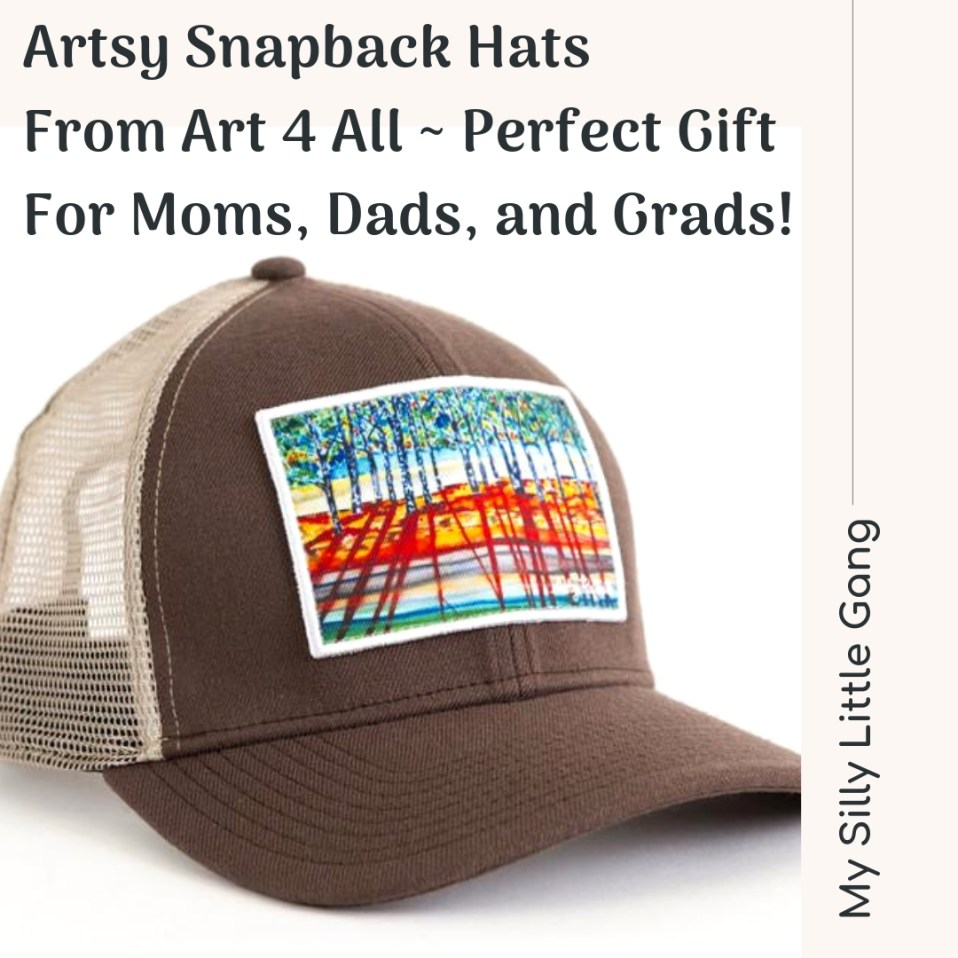 Artsy Snapback Hats From Art 4 All ~ Perfect Gift For Moms, Dads, and Grads! @AbbyPaffrath @SMGurusNetwork #MOMDADGRAD19 #MySillyLittleGang