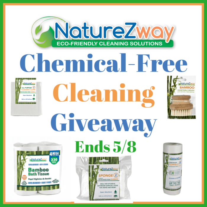 NatureZway Eco-Friendly, Chemical-Free Cleaning Products Giveaway Ends 5/8 @SMGurusNetwork @las930 @NatureZway #MySillyLittleGang
