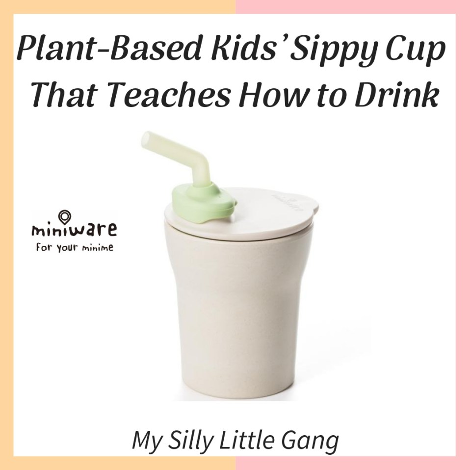 Plant-Based Kids' Sippy Cup That Teaches How to Drink #Miniware #Bamboo #Organic #MySillyLittleGang