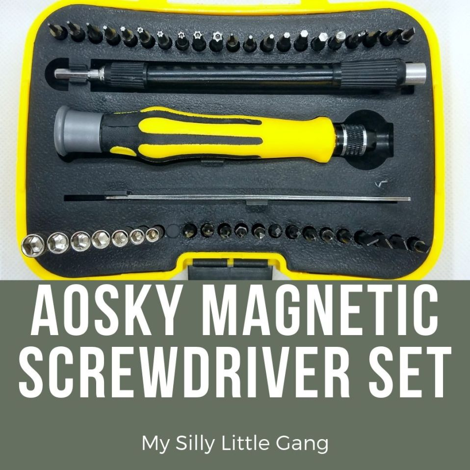 Aosky Magnetic Screwdriver Set Review #MySillyLittleGang