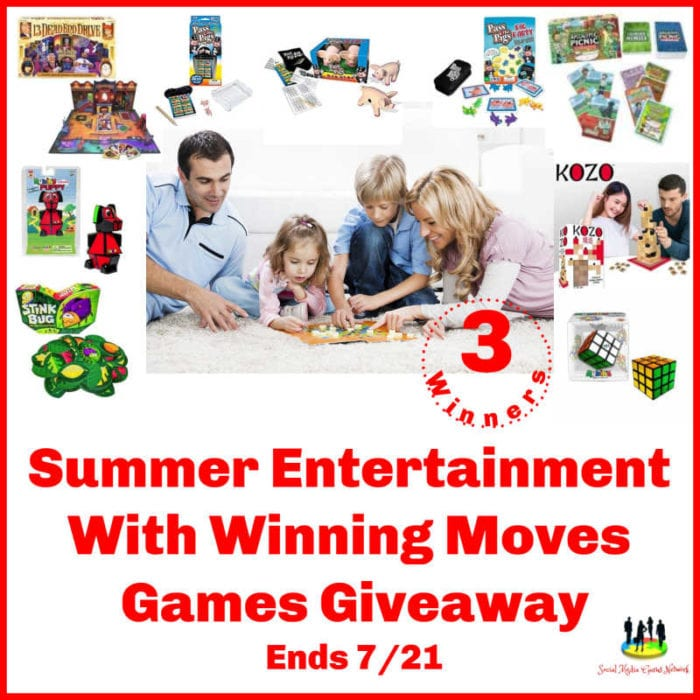 Summer Entertainment With Winning Moves Games Giveaway ~ Ends 7/21 ~ 3 Winners @SMGurusNetwork @las930 @winningmovesusa #MySillyLittleGang