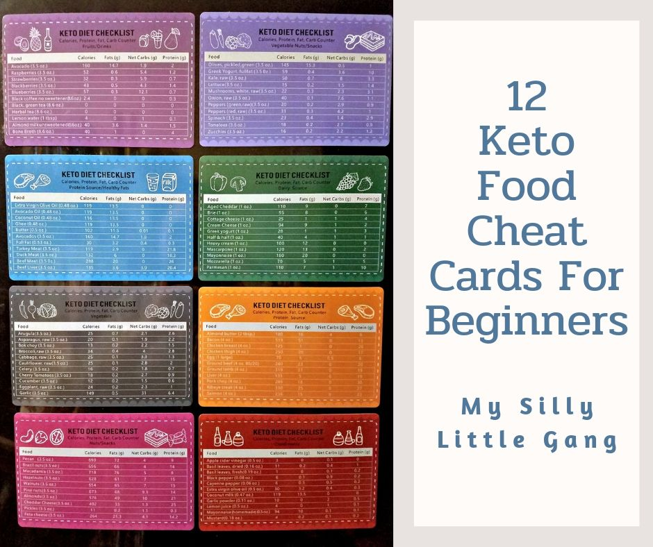 12 Keto Food Cheat Cards For Beginners ~ Review #MySillyLittleGang