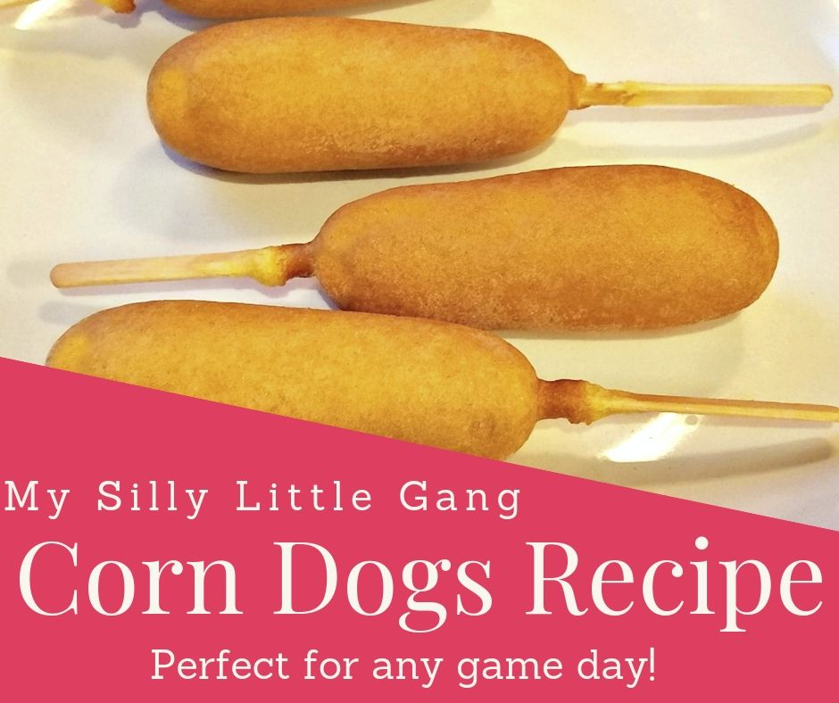 Corn Dogs Recipe ~ Perfect for any game day! @freerangenellie #MySillyLittleGang