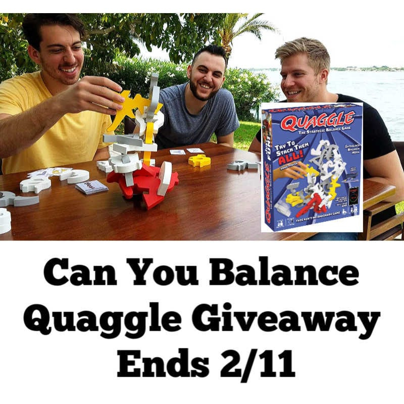 Can You Balance Quaggle Giveaway ~ Ends 2/11 @las930 #MySillyLittleGang