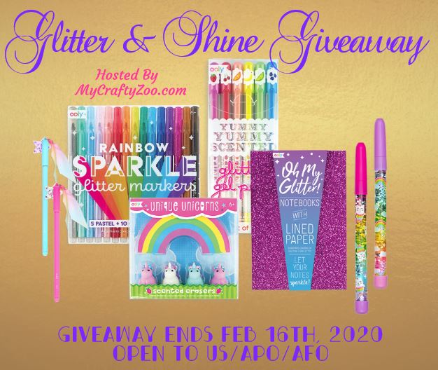 Glitter & Shine Giveaway ~ Ends 2/16 @CraftyZoo @SMGurusNetwork #MySillyLittleGang