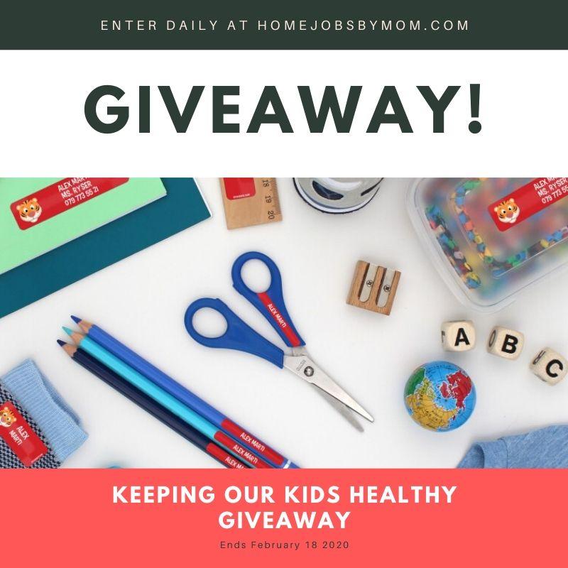 Keeping Our Kids Healthy Giveaway ~ Ends 2/18 @HomeJobsByMom @StickerKidUSA @SMGurusNetwork #MySillyLittleGang