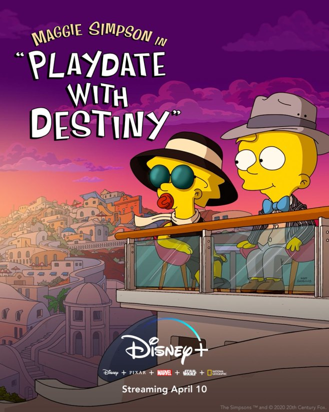 """""""Maggie Simpson in 'Playdate with Destiny'"""" Streams Tomorrow on Disney+ @TheSimpsons #MySillyLittleGang #thesimpsons"""