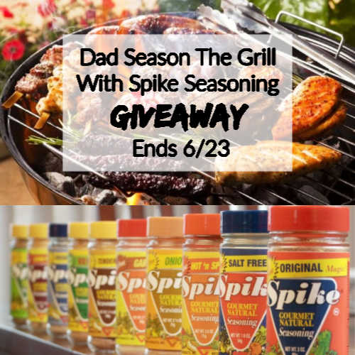 Dad Season The Grill With Spike Seasoning Giveaway ~ Ends 6/23 @las930 #MySillyLittleGang