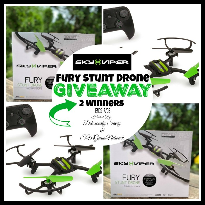 Sky Viper Fury Stunt Drone 2 Winner Giveaway ~ Ends 7/8 @skyviperdrones @DeliciouslySavv #MySillyLittleGang