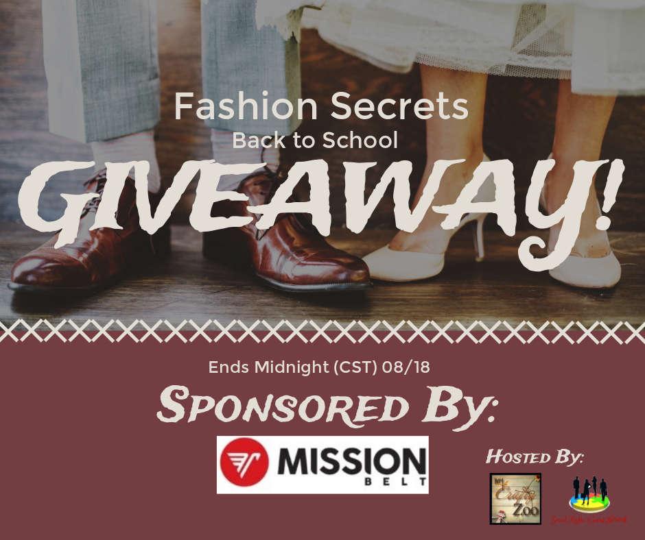 Fashion Secrets Back to School Giveaway ~ Ends 8/18 @craftyzoo #MySillyLittleGang
