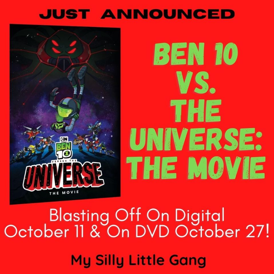 Just Announced - Ben 10 vs. The Universe: The Movie -Blasting Off On Digital October 11 & On DVD October 27! @WBHomeEnt #MySillyLittleGang
