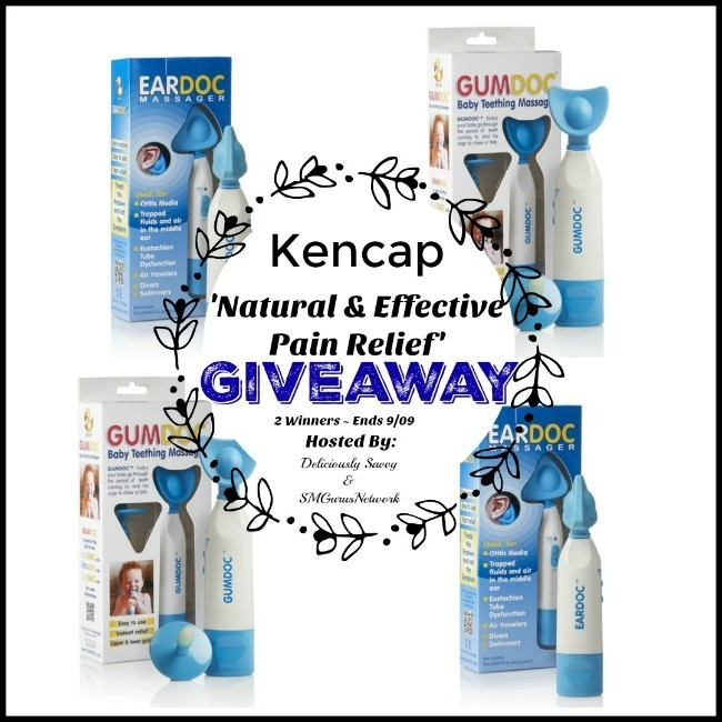 Kencap Natural & Effective Pain Relief Giveaway ~ Ends 9/9 @eardoc @deliciouslysavv #MySillyLittleGang