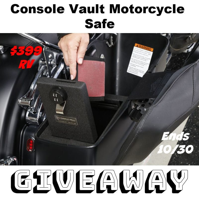 Console Vault Motorcycle Safe Giveaway ~ Ends 10/30 $399 RV @ConsoleVault @las930 #MySillyLittleGang