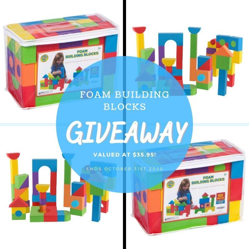 Foam Building Blocks Giveaway ~ Ends 10/31 @PremiumJoy @HomeJobsByMom #MySillyLittleGang