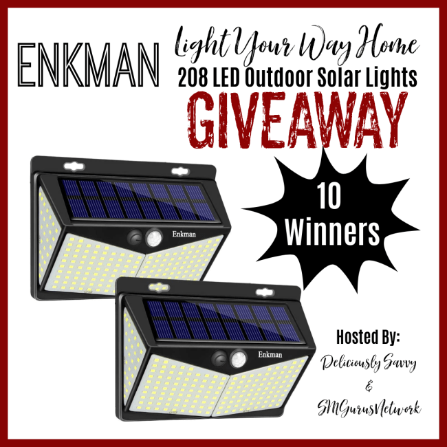 Enkman Light Your Way Home Outdoor Solar Lights Giveaway ~ Ends 10/31 @SMGurusNetwork @DeliciouslySavv #MySillyLittleGang