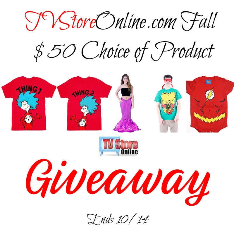 TVStoreOnline.com Fall $50 Choice Giveaway ~ Ends 10/14 @TvStoreOnline @las930 #MySillyLittleGang