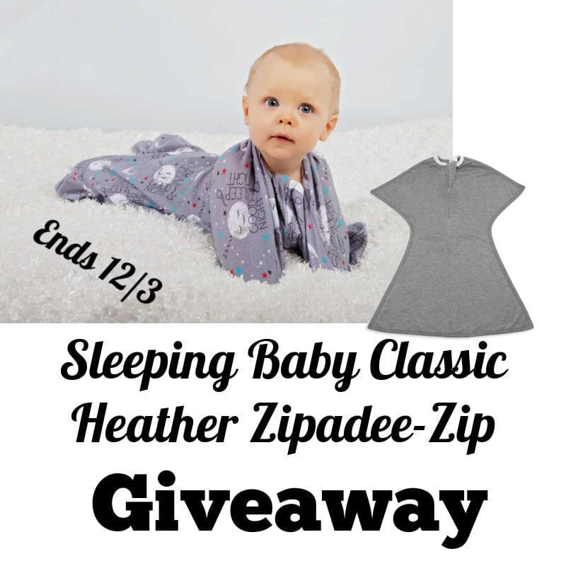 Sleeping Baby Classic Heather Zipadee-Zip Giveaway ~ Ends 12/3 @SleepingBabyInc @las930 #MySillyLittleGang