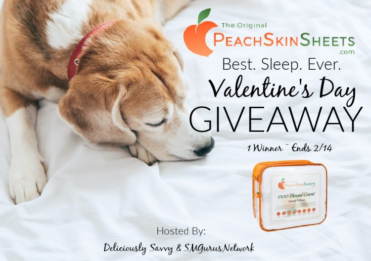 PeachSkinSheets Best. Sleep. Ever. Valentine's Day Giveaway ~ Ends 2/14 @PeachSkinSheets @deliciouslysavv #MySillyLittleGang