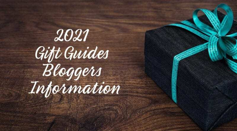 2021 Gift Guides Blogger's Information