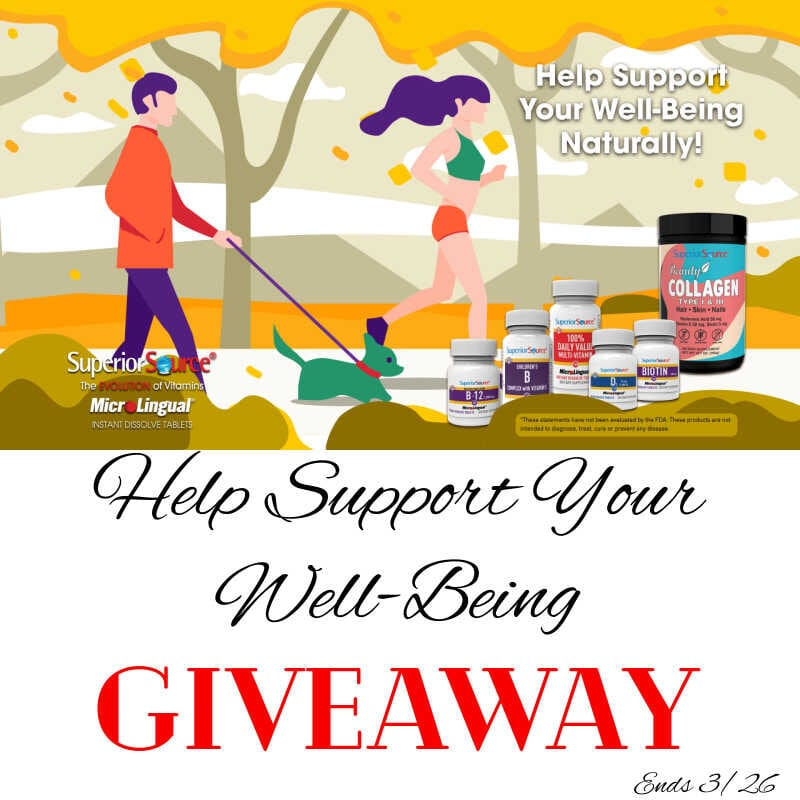 Help Support Your Well-Being Giveaway ~ Ends 3/26 @SuperiorSource @las930 #MySillyLittleGang