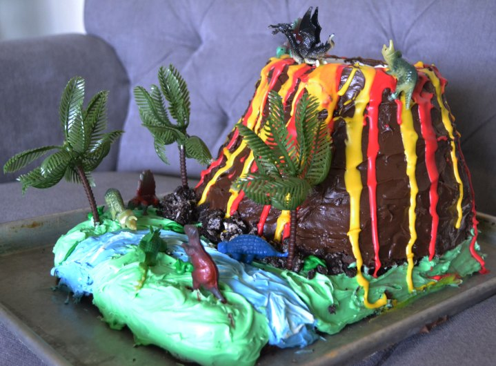 Freaking Awesome Volcano Cake In Five Easy Steps My Silly Squirts